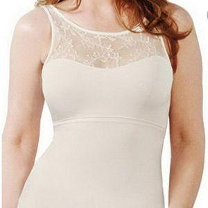 Spanx Hide & Sleek shaping lace cami tank Size XL